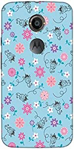 Snoogg Girly Bee Pattern Case Cover For Moto X 2Nd Genration/4S