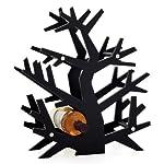 Torre & Tagus Tree Wine Rack, Black