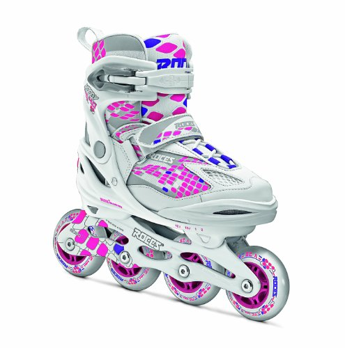 Roces Moody 4.0 Girl, Pattino Inline Bambina, Bianco Rosa, 30-35
