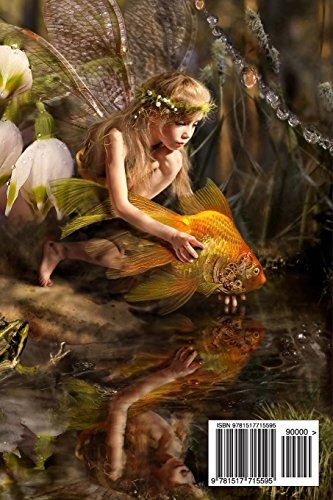 Yellow Fairy with Goldfish: Blank 150 page lined journal for your thoughts, ideas, and inspiration