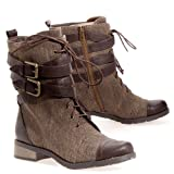 Bamboo Womens Croft-12 Military - Casual Boot Boots Shoes