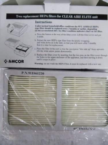 Cheap HEPA Filter 2-pack for CLEAR AIRE ELITE Air Purifiers (V7321 000 000)