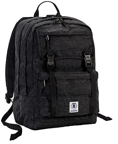 ZAINO INVICTA - DUFFY PACK - Nero - tasca porta pc e Tablet padded - scuola e tempo libero 30 LT