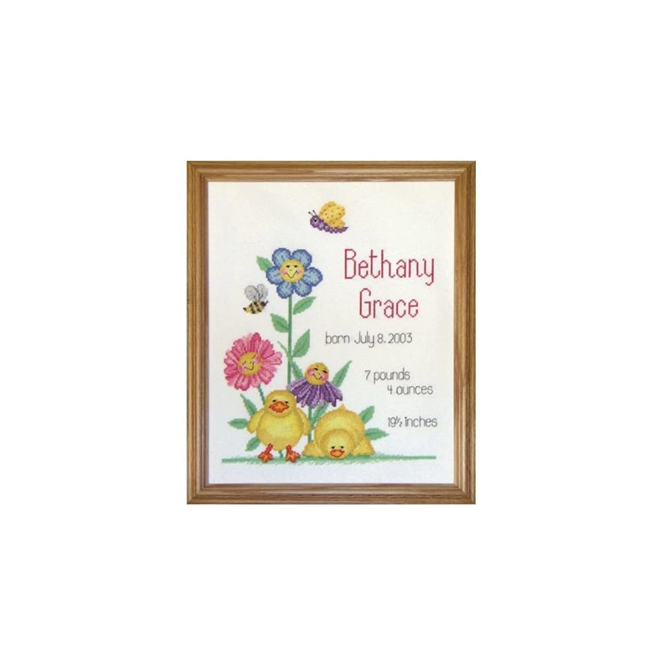 Birth Record Happy Faces Counted Cross Stitch Kit