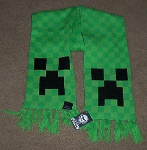 Amazon.com: Jinx MINECRAFT Creeper Knit Acrylic Green SCARF - New Licensed!: ...