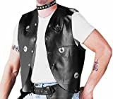 Adult Black Biker Costume Vest