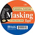 Bazic General Purpose Masking Tape, 0.71 x 2160 Inches (60 Yards) (Case of 36)