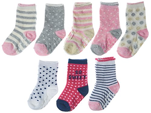 Joe Fresh Baby Girl So Sweet, Dots Crew 8-Pack, 12-24 months