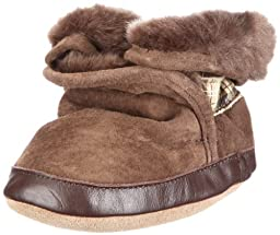 Robeez Cozy Ankle Bootie (Infant/Toddler),Brown,0-6 Months (1-2 M US Infant)