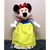 "Retired Disney Mickey Mouse Clubhouse Princess Snow White Minnie Mouse 8"" Plush Bean Bag Doll New Wi"