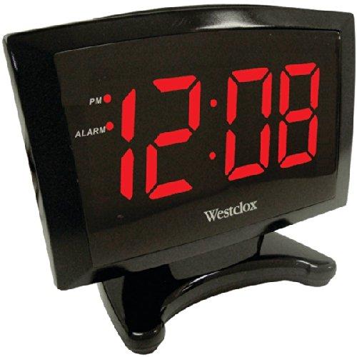 Westclox 70028 Plasma Led Alarm Clock, 1.8-Inch
