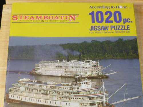 Steamboatin' 1020 Pc Puzzle Delta Quenn & Mississippi Queen