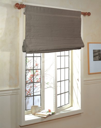 Rod roman shades for Roman shades that hang from a curtain rod
