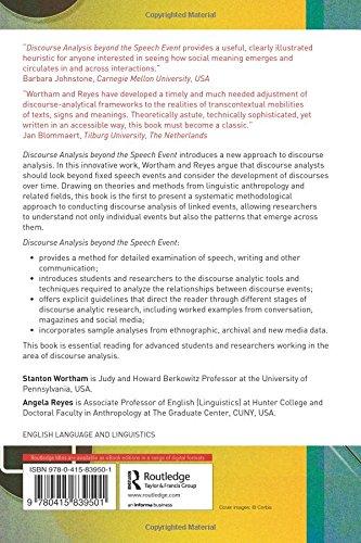 Discourse Analysis beyond the Speech Event
