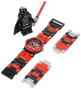 LEGO Star Wars Darth Vader - Reloj de niños de cuarzo, correa de plástico color varios colores (9002908)