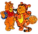 Pooh And Tigger Costumed Yard Decoration