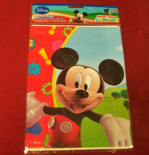 Set of 8 Party Treat Bags by Disney: MICKEY MOUSE CLUBHOUSE - 1