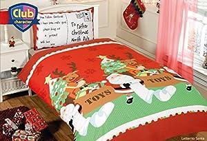 Childrens Christmas Letter To Santa Junior / Cot Bed Duvet, Quilt Cover Set