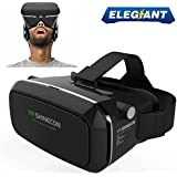 "ELEGIANT Universal 3D VR Einstellbar Virtual Reality Brille Karton Video Movie Game Brille virtuelle Realität Glasses für 3.5""-6"" Android IOS Iphone Samsung Galaxy Mega 2 / Galaxy Note 4 / Galaxy Note 3 / Galaxy S6 Rand / Galaxy S6 / iPhone 6 / iPhone 6 Plus / LG G3 / SONY Experia T2 Ultra / Xperia Z3 + / MOTO Nexus 6 / HTC One Max / Wunsch 816 / Die M9 / ASUS Zenfone 2 uswGoogle Pappkarton Oculus Rift Head Mounted Stirnband"