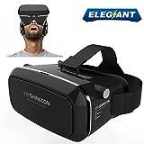 ELEGIANT 3DVR ゴーグル 3Dメガネ スマホゴーグル素晴らしい3D体験・お手軽な3Dゴーグルで遊べ!3DVR 超3D映像効果 現実虚構 3D動画VR体験メガネ調節可能な焦点/瞳孔距離4- 6インチのスマートフォンiPhone 6Plus 6 Samsung なとに適用 GoogleDIY ビデオ 映画ゲーム用