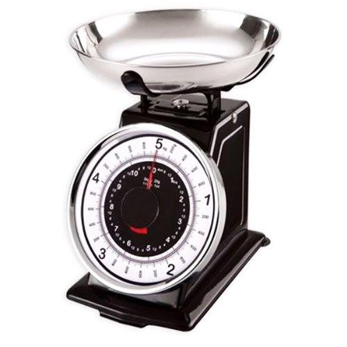 Table&cook - nr-bk/5kg - Balance de cuisine mécanique 5kg - 20g noire RETRO