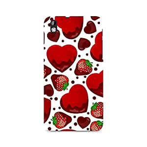 Ebby Strawberry and Hearts Premium Printed Case For HTC Desire 816