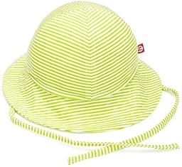 Zutano Sun Hat Candy Stripe, Lime, 12 Months ( 6-12 months)