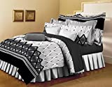 Bellagio Pure Collection Cotton 1 Double Bed Sheet & 2 Pillow Covers (White and Grey)