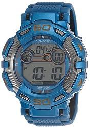 Sonata Ocean Series II Digital Grey Dial Mens Watch - 77009PP04J