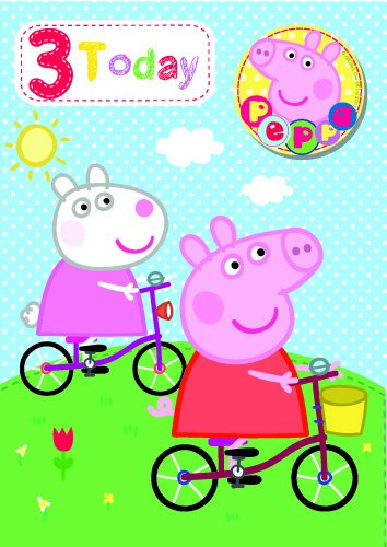 Peppa Pig Age 3 Birthday Princess Card [Electronics]