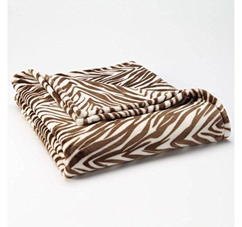 "The Big One Oversized Microplush Fleece Throw Blanket 60"" X 72"" - Zebra front-791454"