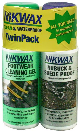 Nikwax Nubuck & Suede Spray Duo-Pack for Footwear,