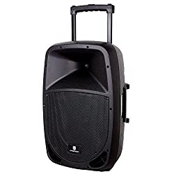 PRORECK FREEDOM 15 Portable 15-Inch 800 Watt 2-Way Rechargeable Powered Dj/PA Speaker System with Bluetooth/USB/SD Card Reader/ FM Radio/Remote Control from PRORECK AUDIO