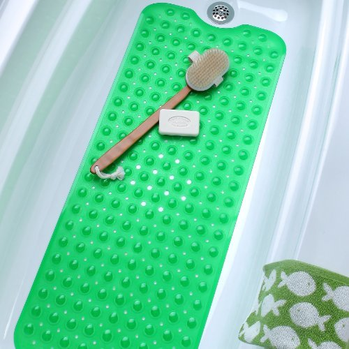 Extra Long Vinyl Bath Mat - Green (Full Bathtub compare prices)