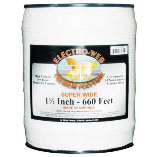 Powerfields Ew15-660 1.5-Feet Polytape, 660-Feet, White
