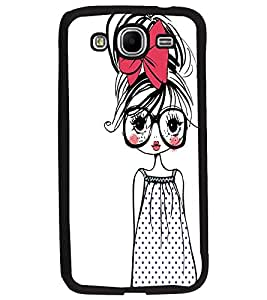PrintDhaba Girl with Specs D-2319 Back Case Cover for SAMSUNG GALAXY MEGA 5.8 (Multi-Coloured)
