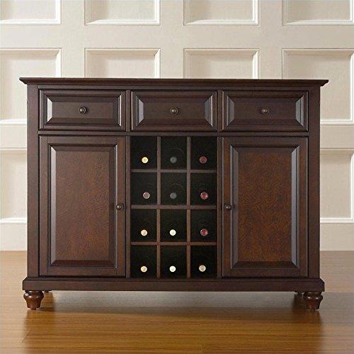 Crosley Furniture Cambridge Buffet Server/Sideboard Cabinet with Wine Storage, Vintage Mahogany (Crosley Wine Cabinet compare prices)