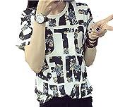 (マリッチ) Maritchi Tシャツ レディース 英字 ロゴ カットソー 和柄 半袖 シャツ (M)