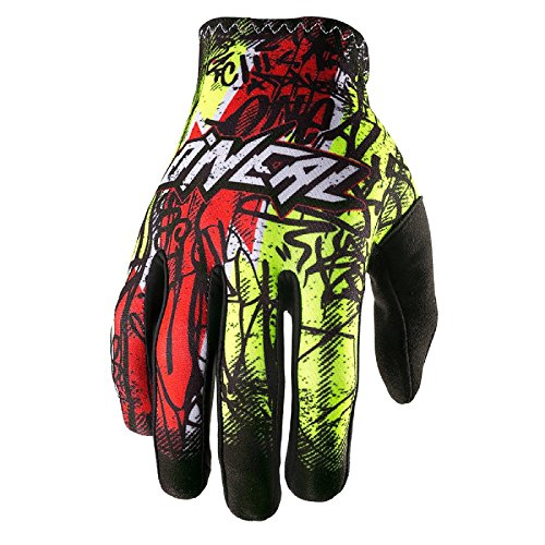 O'Neal Matrix Unisex-Adult Vandal Glove (Black/Neon/Red, 9) by O'Neal