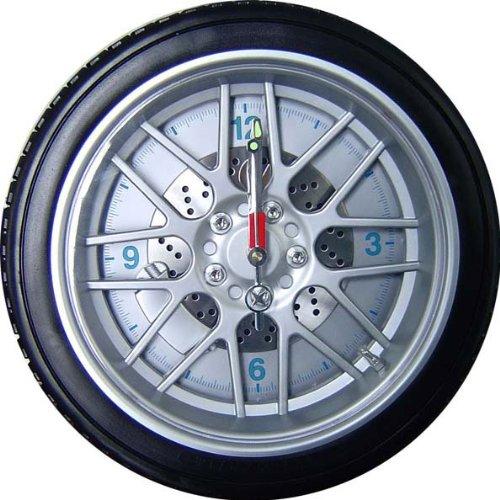 車好きにはたまらない! タイヤホイールシリーズ ビッグタイヤホイール掛時計OH-312