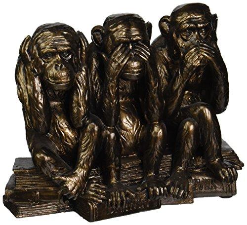 Design Toscano The Hear-No, See-No, Speak-No Evil Monkeys Statue in Faux Bronze