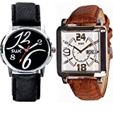 SWC-76 DESIGNER ANALOG COMBO OF 2 WATCHES FOR MEN & BOYS