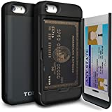 iPhone 5 Case, TORU® [Shockproof] iPhone 5S Credit Card Case [CX Pro] [Blue] Protective Hybrid Kickstand Case with Card Slot Wallet for iPhone 5S / 5 - Metal Slate (115STPUSKS-MS)