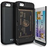 Amazon.co.jpiPhone5/5S/SE ケース TORU 手帳型 ミラースタンド 保護 カバー メタルスレート
