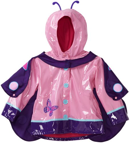 Western Chief Little Girls' Wings Raincoat, Pink, 4T front-688678