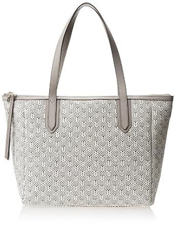 Fossil Sydney Textured Shopper Shoulder Bag,Light Grey,One Size