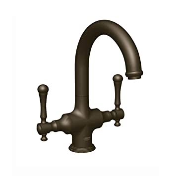 Grohe 31055ZBE   Bridgeford 2-Handle Bar Faucet in Oil Rubbed Bronze with 1.5gpm Water Care-Handles Not Included