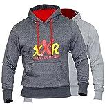 XXR Plain Fleece Hoodies Top Hooded Sweat Shirt Gym Clothing Running Jogging Fitness Casual All Weather Cotton Fleece Sports Wear Boxing MMA Hoods XS-2XL