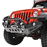 Restyling Factory Jeep Wrangler JK Black Full Width Front Bumper With OE Fog Lights Hole and Winch Plate