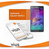 vius® Premium Tempered Glass Screen Protector for Samsung Note 4